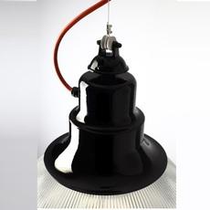 Berlino franco zavarise zava berlino suspension h37cm 9005 black orange rayon luminaire lighting design signed 17477 thumb