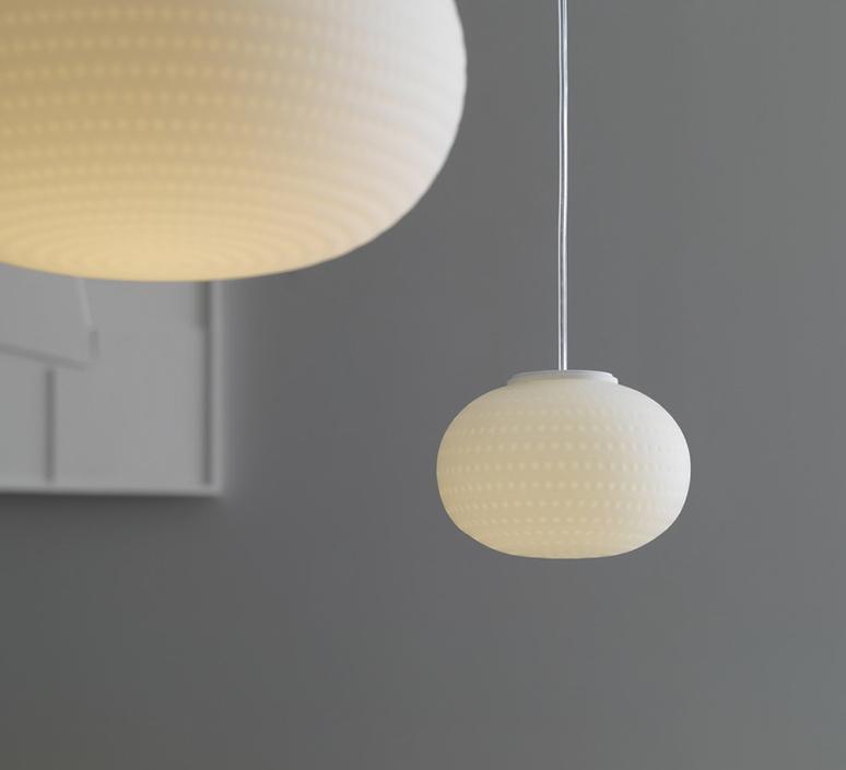 suspension bianca led blanc 16cm fontana arte luminaires nedgis. Black Bedroom Furniture Sets. Home Design Ideas