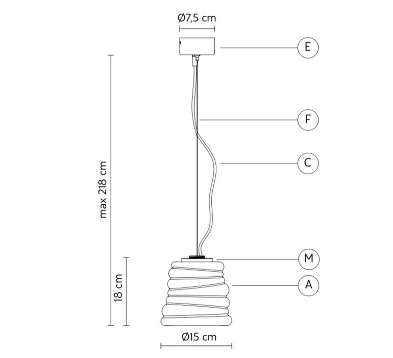 Bibendum paola navone suspension pendant light  karman se198 ad int   design signed nedgis 74298 product