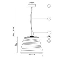 Bibendum paola navone suspension pendant light  karman se198 ct int   design signed nedgis 74320 thumb