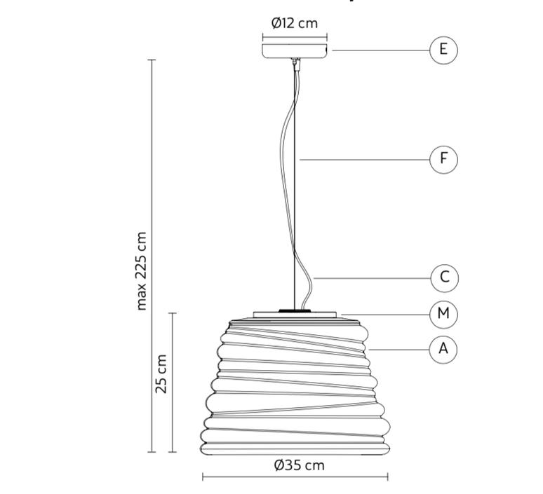 Bibendum paola navone suspension pendant light  karman se198 bt int   design signed nedgis 74329 product