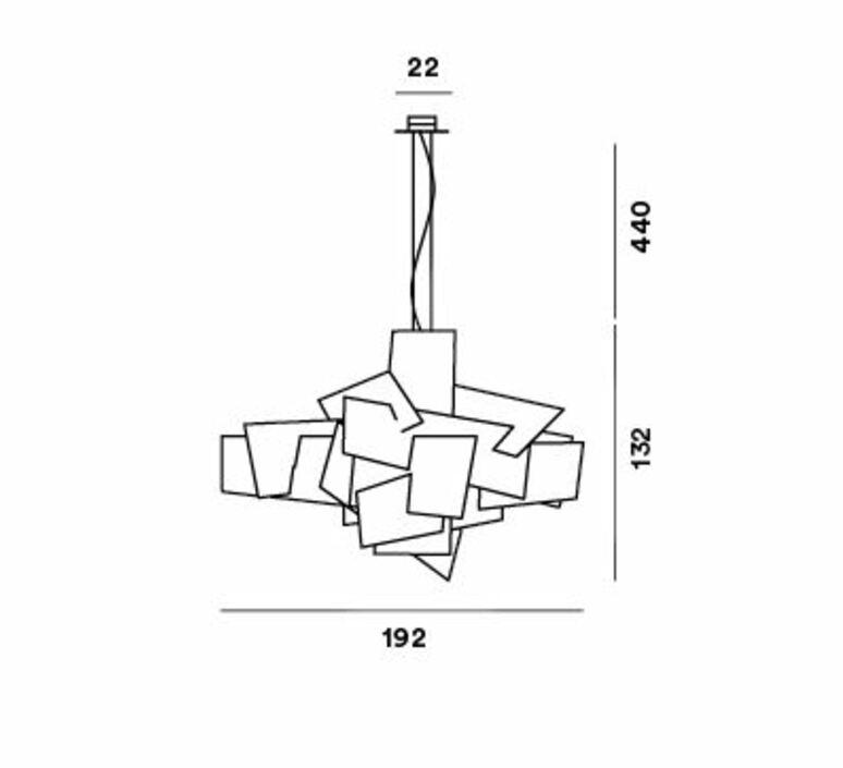 Big bang xl enrico franzolini suspension pendant light  foscarini 1510072l63  design signed nedgis 86005 product