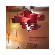 Pendant Light Big Bang Xl Red Dimmable Led 3000k 9126lm