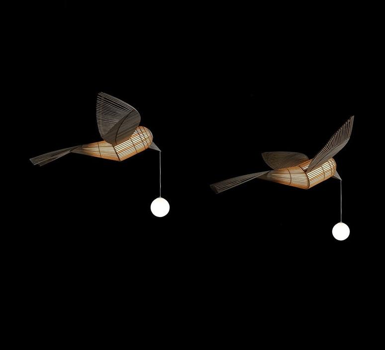 Big bird  suspension pendant light  lzf bird ls h led dim0 10v  design signed nedgis 118953 product
