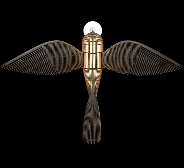Big bird  suspension pendant light  lzf bird ls h led dim0 10v  design signed nedgis 118954 product