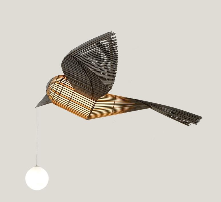 Big bird  suspension pendant light  lzf bird ls h led dim0 10v  design signed nedgis 118957 product