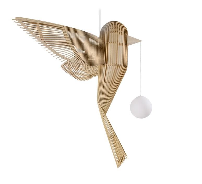 Big bird vertical  suspension pendant light  lzf bird ls v led dim0 10v  design signed nedgis 119947 product