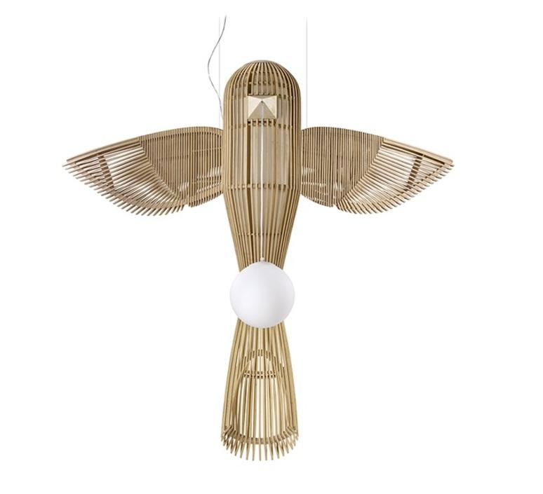Big bird vertical  suspension pendant light  lzf bird ls v led dim0 10v  design signed nedgis 119948 product