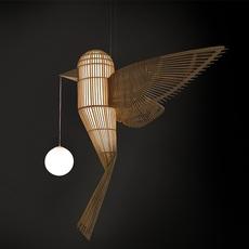 Big bird vertical  suspension pendant light  lzf bird ls v led dim0 10v  design signed nedgis 119949 thumb