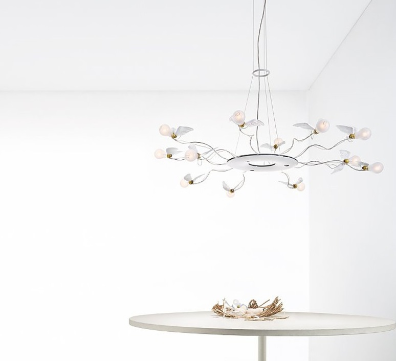 Birdie s ring led ingo maurer suspension pendant light  ingo maurer 1064050  design signed nedgis 64757 product