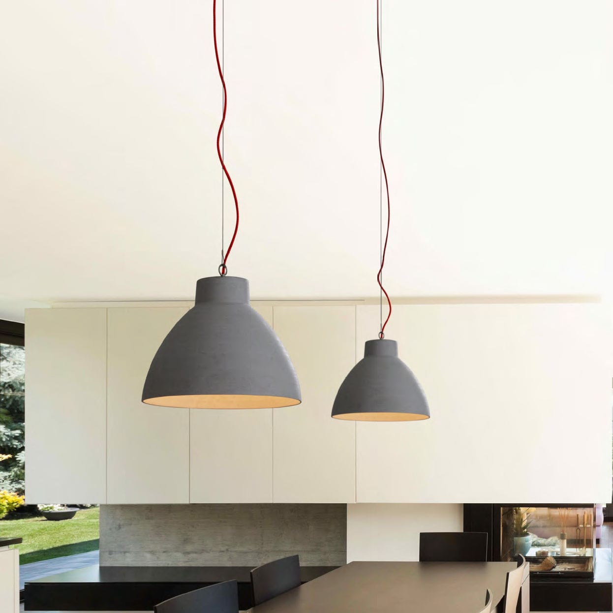 pendant light bishop 4 0 grey h31cm 40cm wever. Black Bedroom Furniture Sets. Home Design Ideas