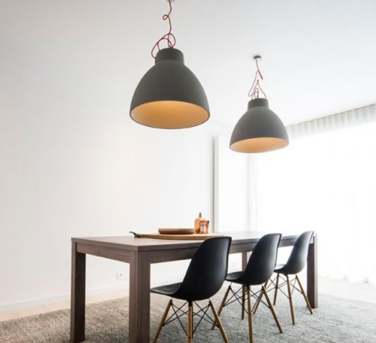 suspension bishop gris h49 5cm 60cm wever ducre luminaires nedgis. Black Bedroom Furniture Sets. Home Design Ideas
