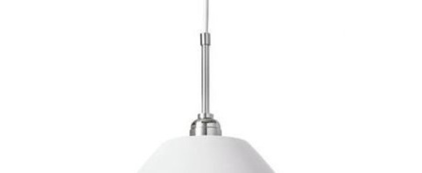 Suspension bl9 l blanc mat chrome o40cm h33cm gubi normal