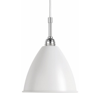 Suspension bl9 m blanc mat chrome o21cm h18cm gubi normal