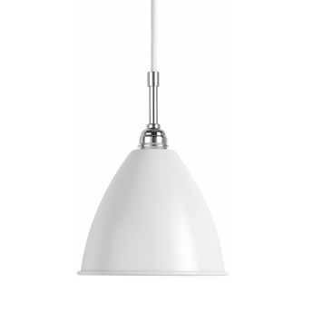 Suspension bl9 s blanc mat chrome o16cm h14cm gubi normal
