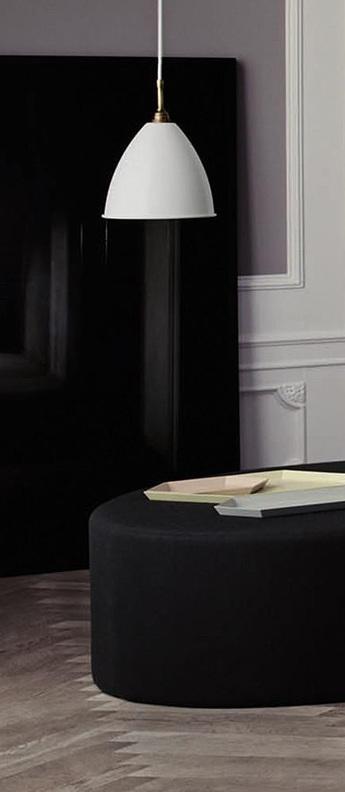 Suspension bl9 s blanc mat laiton o16cm h14cm gubi normal