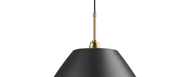 Suspension bl9 xl noir anthracite laiton o60cm h50cm gubi normal