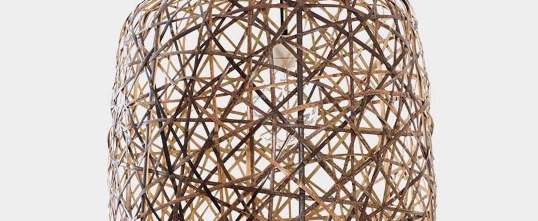 Suspension black bird s nest medium naturel o57cm h58cm ay illuminate normal