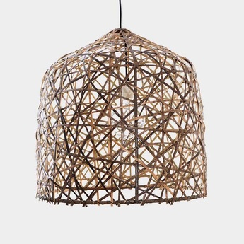 Suspension black bird s nest medium naturel o57cm h58cm ay illuminate normal