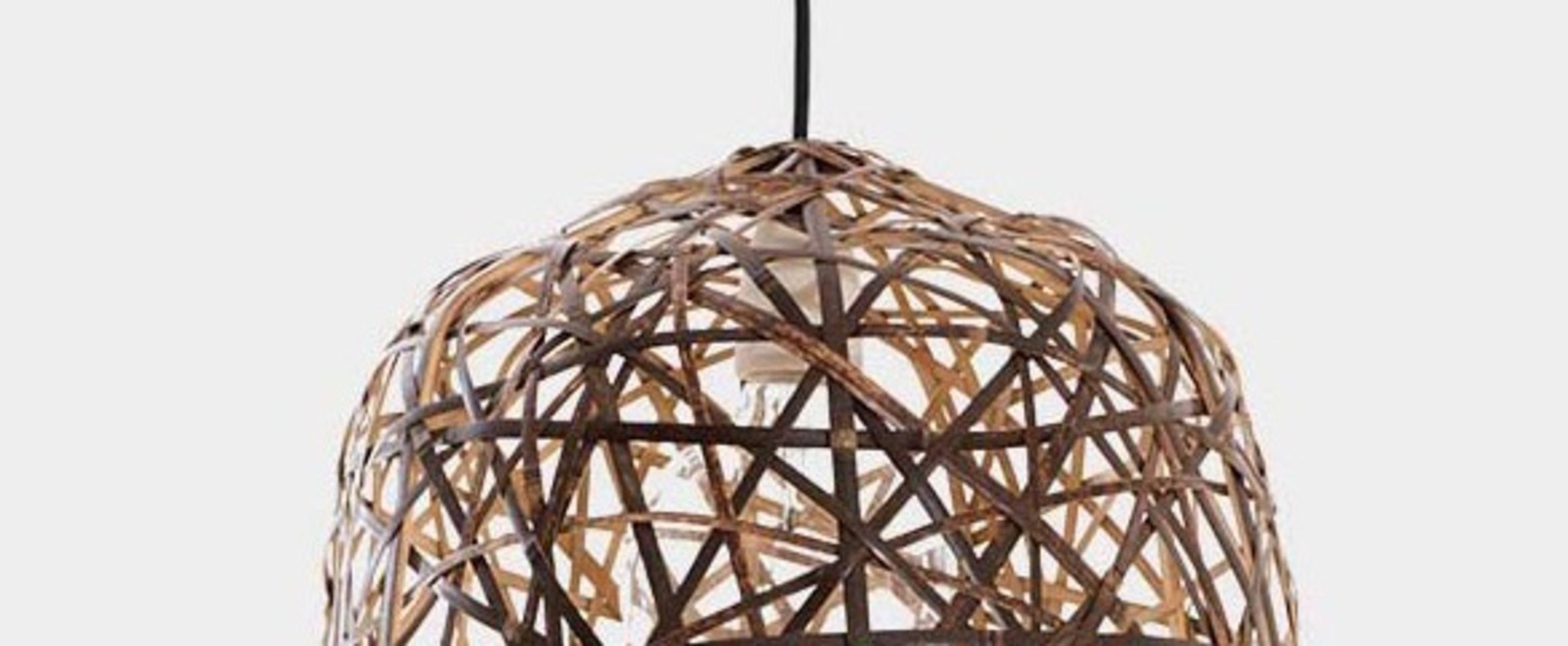 Suspension black bird s nest small naturel o39cm h47cm ay illuminate normal