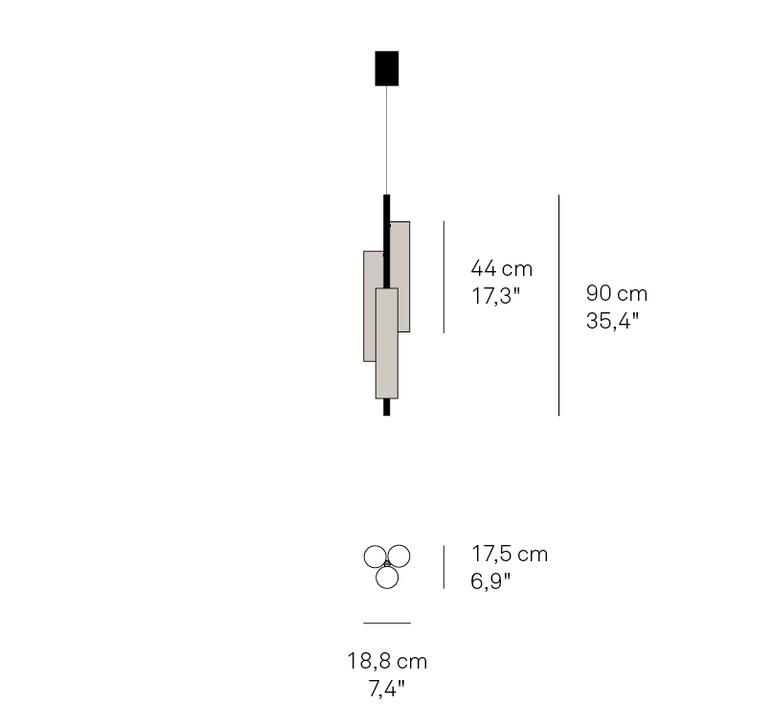 Black note tr ramon esteve studio suspension pendant light  lzf  bknt tr s gd led dim0 10v 21  design signed nedgis 70822 product