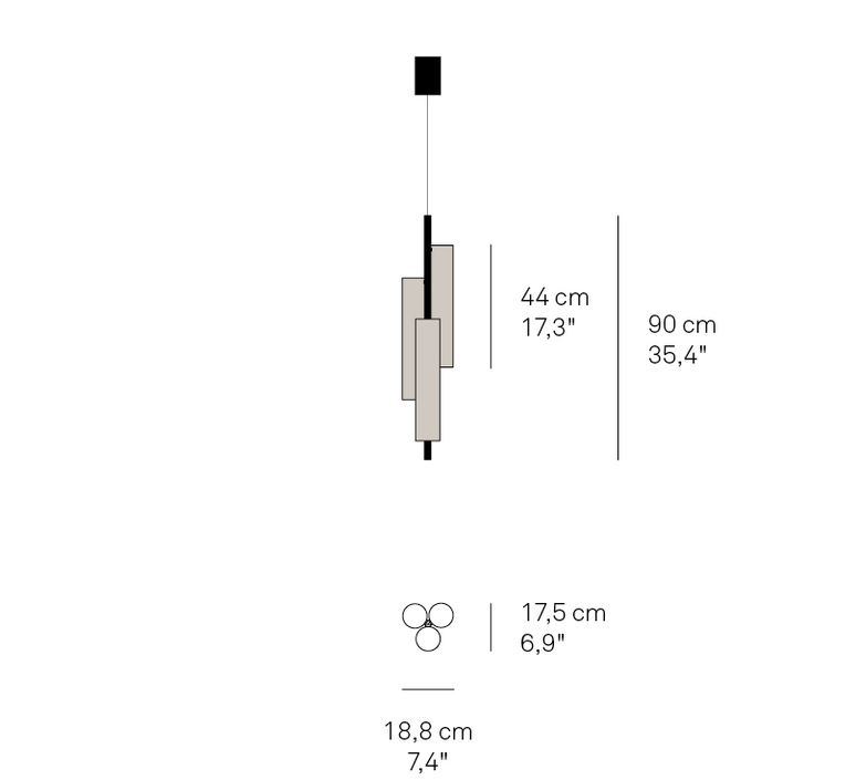 Black note tr ramon esteve studio suspension pendant light  lzf  bknt tr s co led dim0 10v 29  design signed nedgis 70825 product