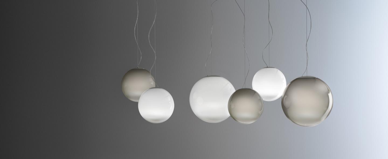 Suspension blanc 1 verre opal blanc o26 7cm h26 7cm panzeri normal
