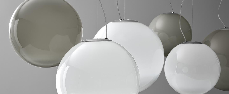 Suspension blanc 2 verre opal blanc o35cm h35cm panzeri normal