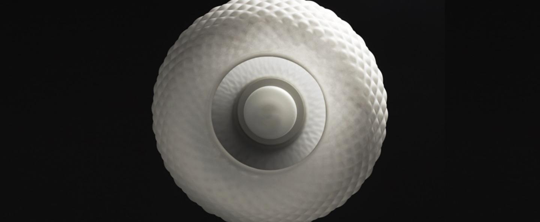 Suspension blown pendant blanc o28cm h28cm andtradition normal