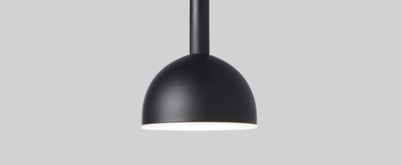 Suspension blush noir led 3000k 900lm o9cm h22cm northern normal