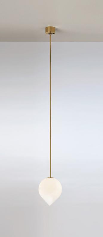Suspension bob blanc et laiton o15cm h18cm anastassiades studio normal