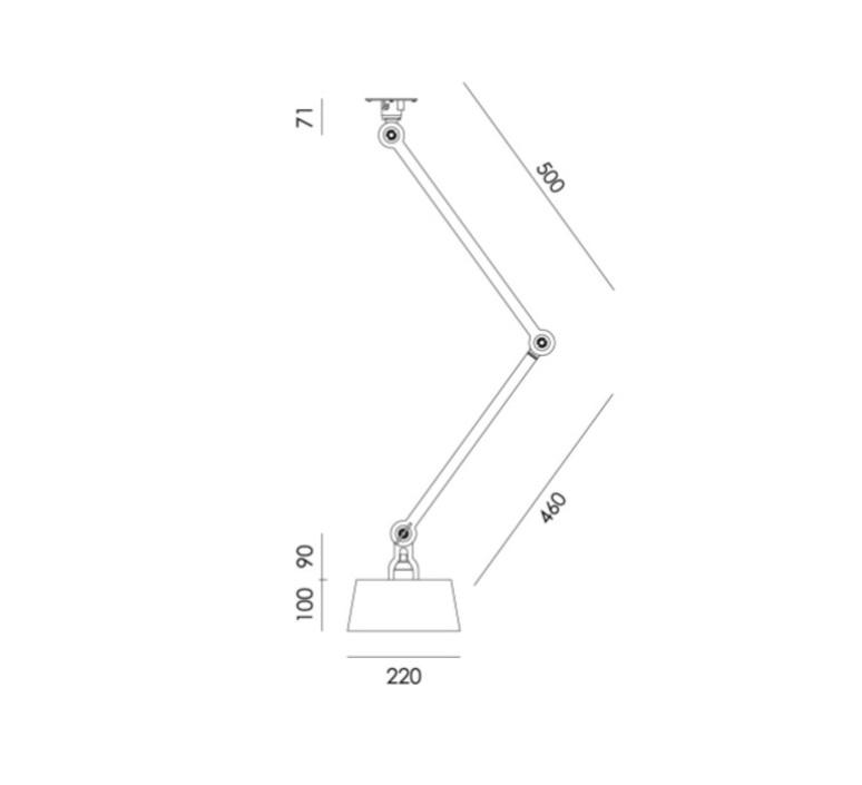 Bolt ceiling 2 arm underfit anton de groof suspension pendant light  tonone 1335  design signed nedgis 113270 product