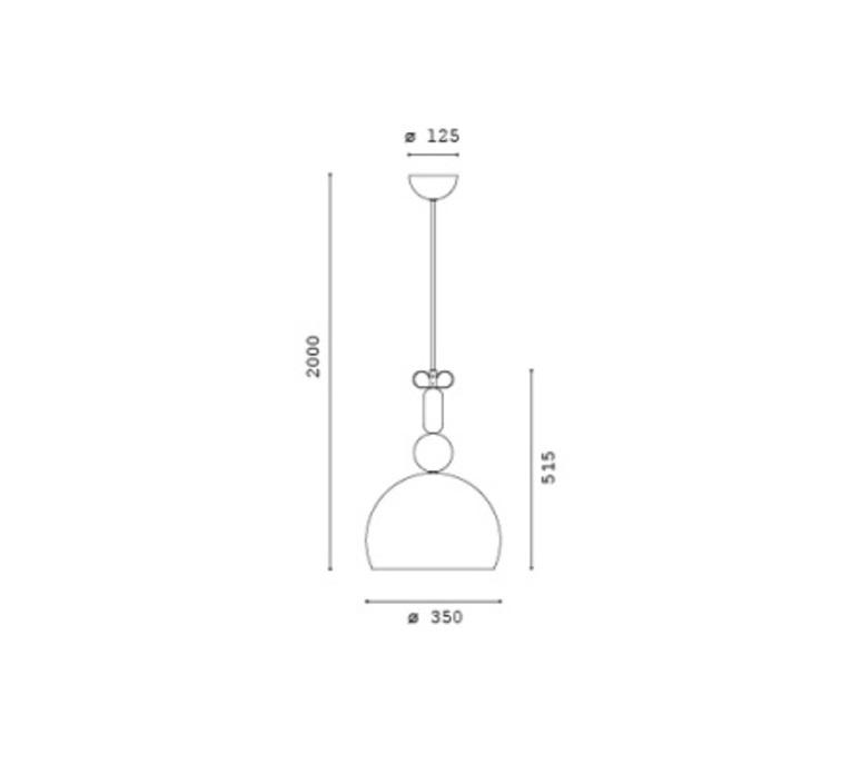 Bon ton cristina celestino suspension pendant light  torremato n1b1  design signed 52279 product