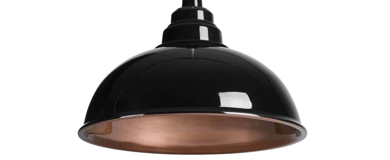 Suspension botega noir cuivre l33cm h23cm zanolla normal