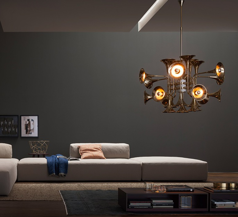Botti studio delightfull delightfull suspension botti 90 gold luminaire lighting design signed 25570 product