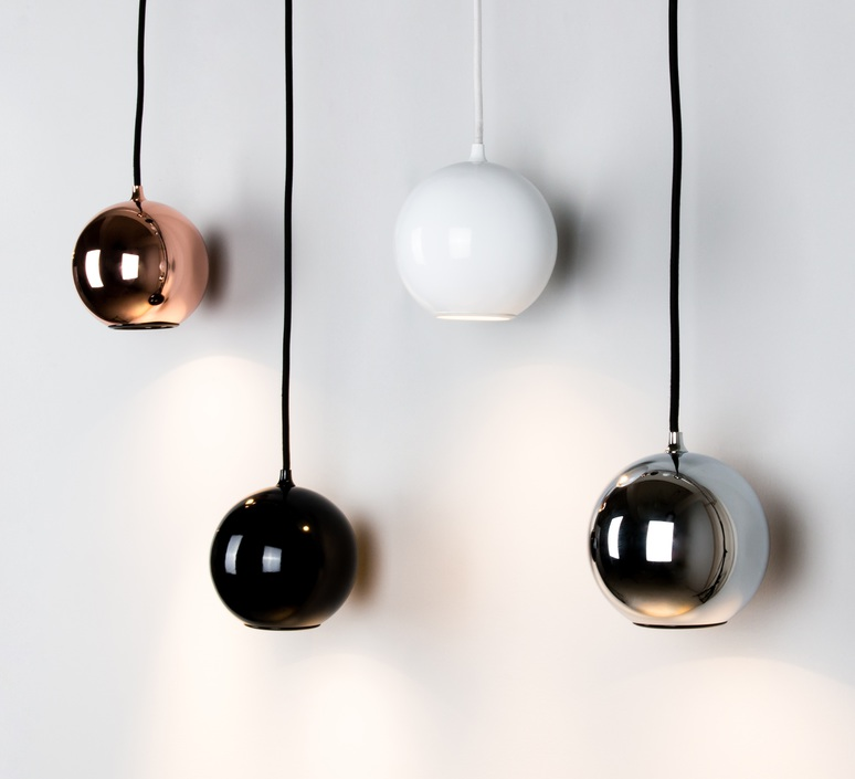 Pendant light, Boule, white, Ø12cm innermost