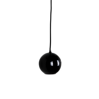Lampe de sol boule medium verre fum gris h74cm for Suspension boule noire