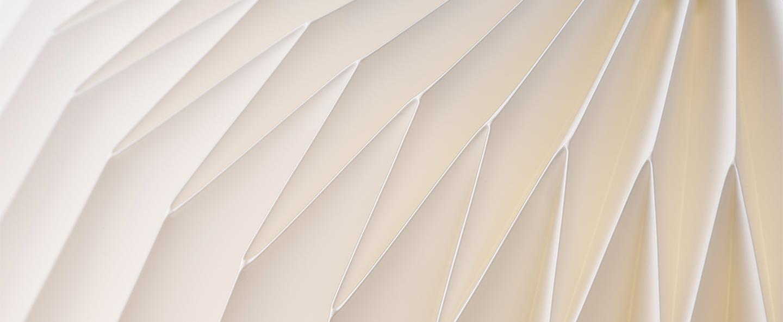 Suspension bouquet 3 large blanc o55cm h50cm le klint normal