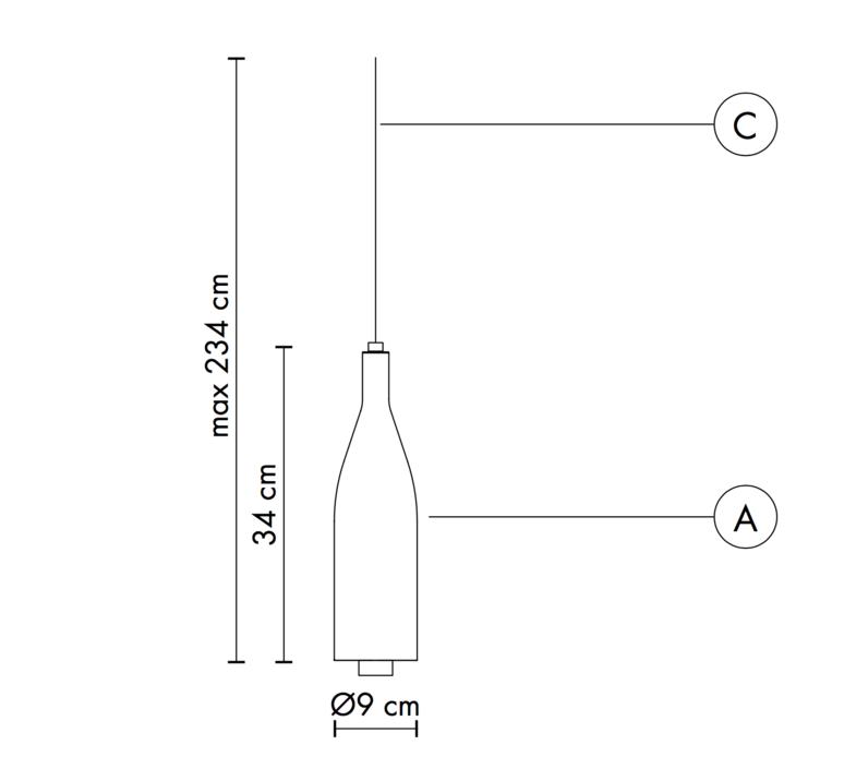 Bouteille bacco matteo ugolini suspension pendant light  karman se143 1b int   design signed 37651 product