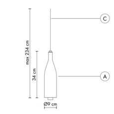 Bouteille bacco matteo ugolini suspension pendant light  karman se143 1b int   design signed 37651 thumb