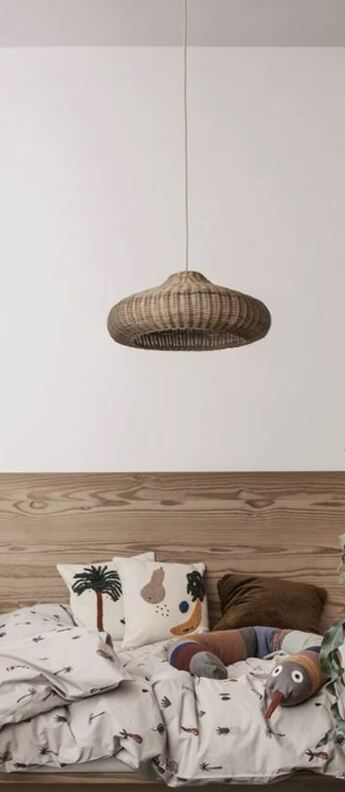 Suspension braided lampshade marron o49 5cm h20cm ferm living normal