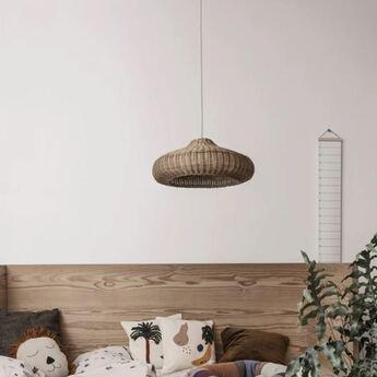 Suspension braided lampshade marron o49 5cm h20cm ferm living normal