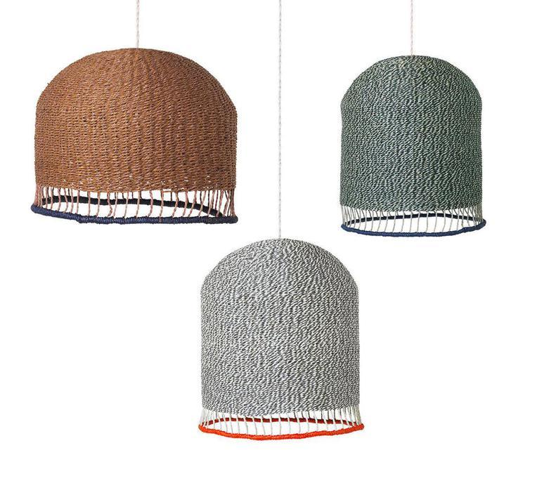 Braided lampshade  suspension pendant light  ferm living 9277  design signed 36956 product