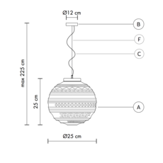 Braille matteo ugolini suspension pendant light  karman se144 1b int   design signed 37662 thumb