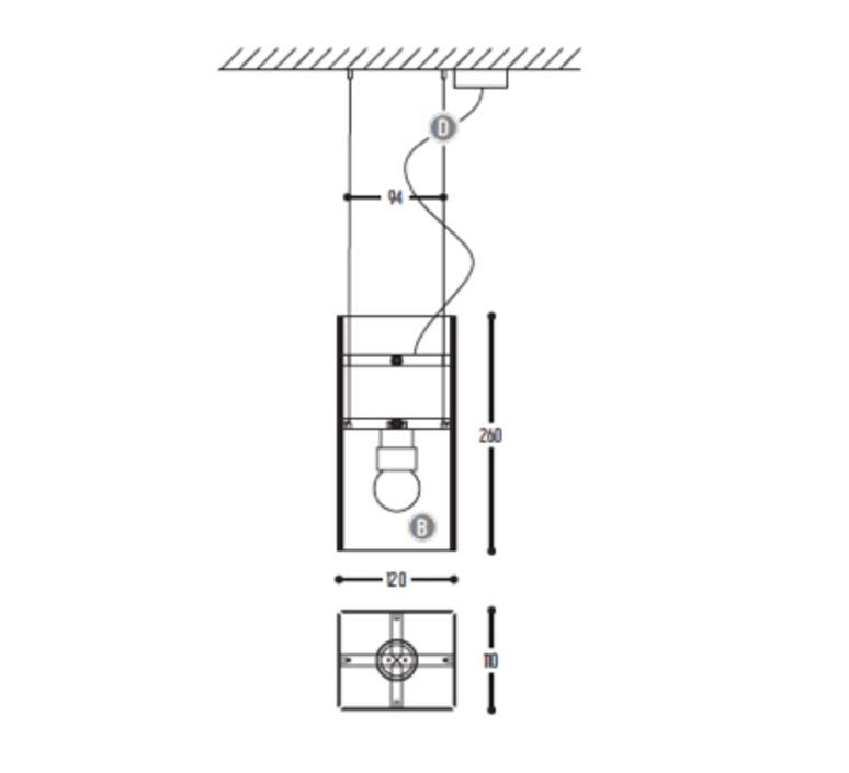 Bridge one georges seris suspension pendant light  dark 120 03 010 01  design signed nedgis 68920 product
