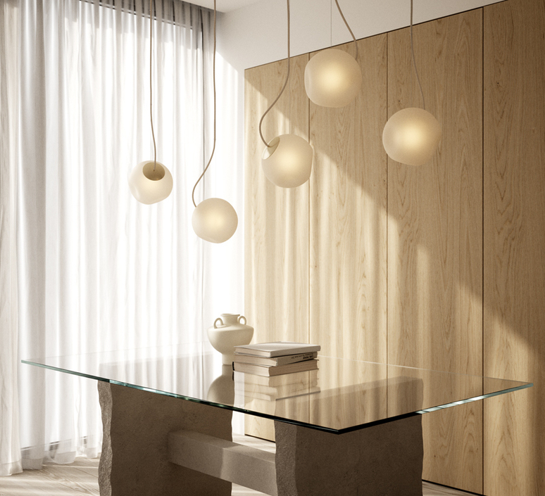 Bright barocco cable creme jonas hoejgaard suspension pendant light  nordic tales 111201  design signed nedgis 93126 product