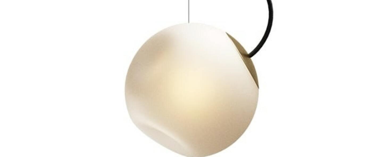 Suspension bright barocco cable noir laiton blanc o20cm h20cm nordic tales normal