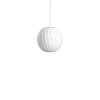 Suspension bubble ball crisscross s blanc o32 5cm h30 5cm hay normal