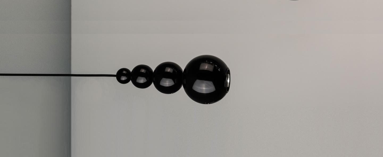 Suspension bubble noir brillant h29cm innermost normal