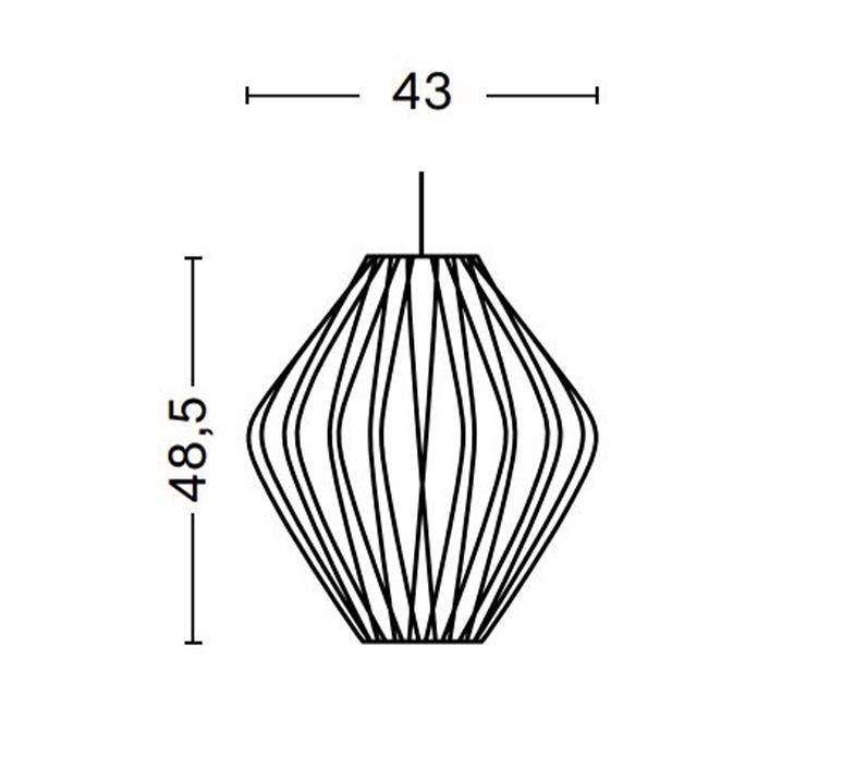 Bubble pear crisscross m george nelson suspension pendant light  hay 936362  design signed nedgis 104901 product